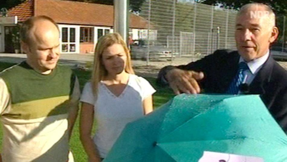 Pocket umbrella test from NDR TV