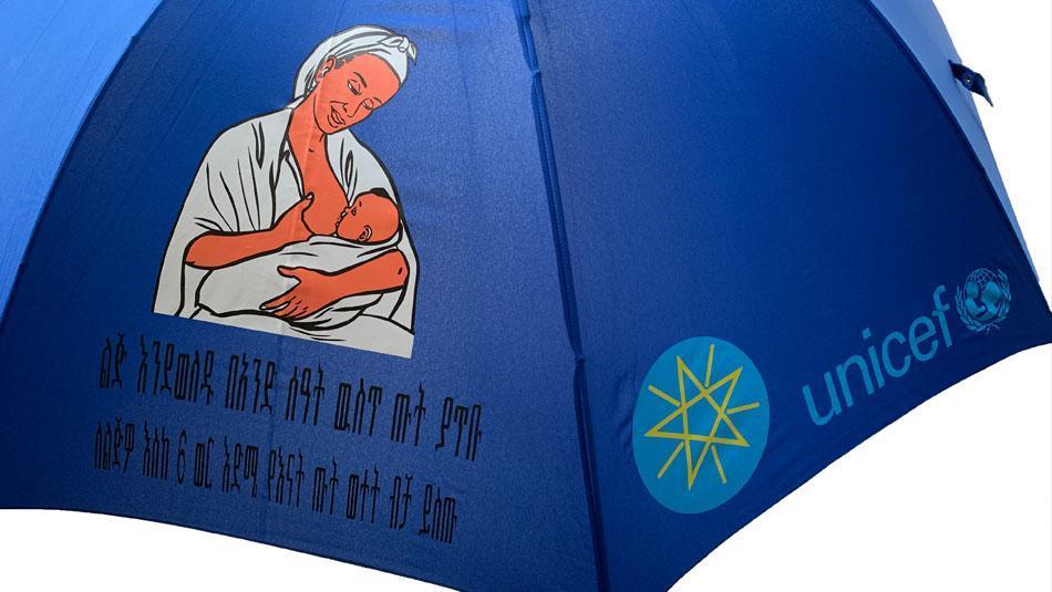 UNICEF umbrella from European Umbrellas