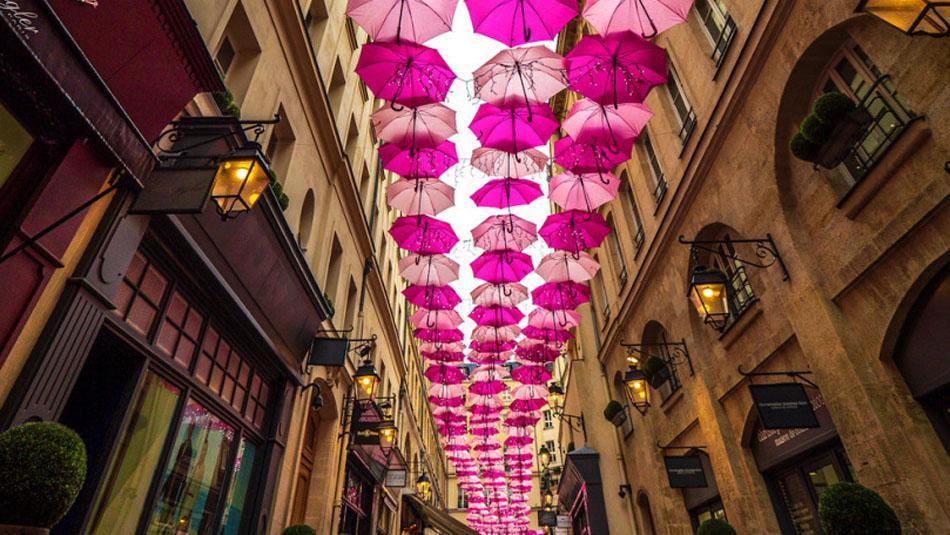 Umbrella Sky in Village Royal in Paris