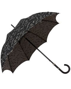 Oertel Handmade Ladies - Leafs - black | European Umbrellas