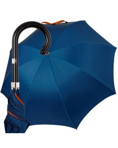 Oertel Handmade Ladies - double uni - blue-orange | European Umbrellas