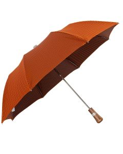 Oertel Handmade pocket umbrella maple - Dots orange-black