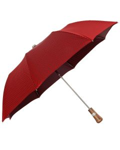 Oertel Handmade pocket umbrella maple - Dots red-blue