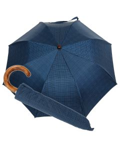 Oertel Handmade pocket umbrella maple - glencheck blue