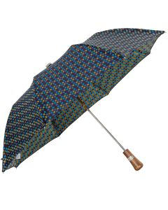 Oertel Handmade pocket umbrella maple - Multi Dots navy