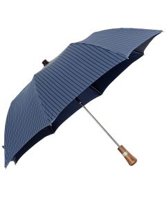 Oertel Handmade pocket umbrella maple - Stripes blue-navy