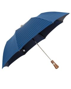 Oertel Handmade pocket umbrella maple - Stripes royal-navy