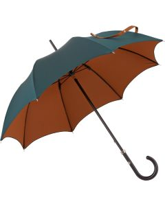 Oertel Handmade Ladies - double uni - petrol-cognac | European Umbrellas
