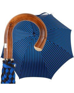 Oertel Handmade - Sport Stripes - black-blue | European Umbrellas