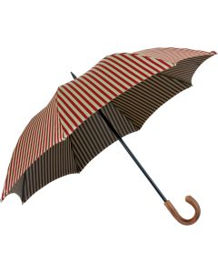 Oertel Handmade - Sport Stripes - red-beige | European Umbrellas