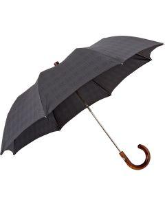 Oertel Handmade pocket umbrella maple - glencheck grey | European Umbrellas