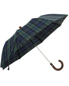 Oertel Handmade pocket umbrella Tartan cotton blackwatch | European Umbrellas