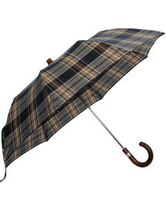 Oertel Handmade pocket umbrella Tartan cotton blue | European Umbrellas