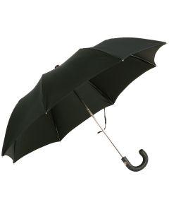 Oertel Handmade pocket umbrella - leather black | European Umbrellas
