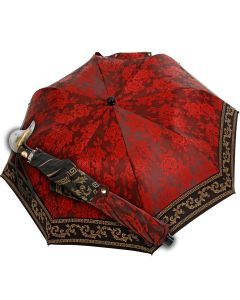 Marchesato - Pocket umbrella - baroque red | European Umbrellas
