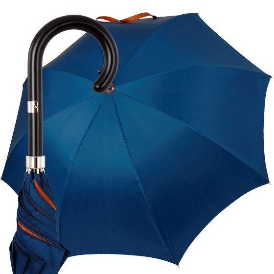 Oertel Handmade Ladies - double uni - blue-orange | European Umbrellas