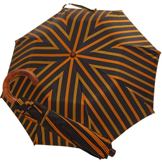 Oertel Handmade pocket umbrella - leather red | European Umbrellas