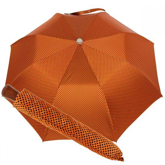 Oertel Handmade pocket umbrella maple - Dots orange-black
