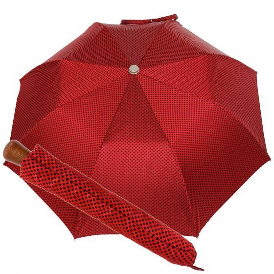 Oertel Handmade pocket umbrella maple - Dots red-blue