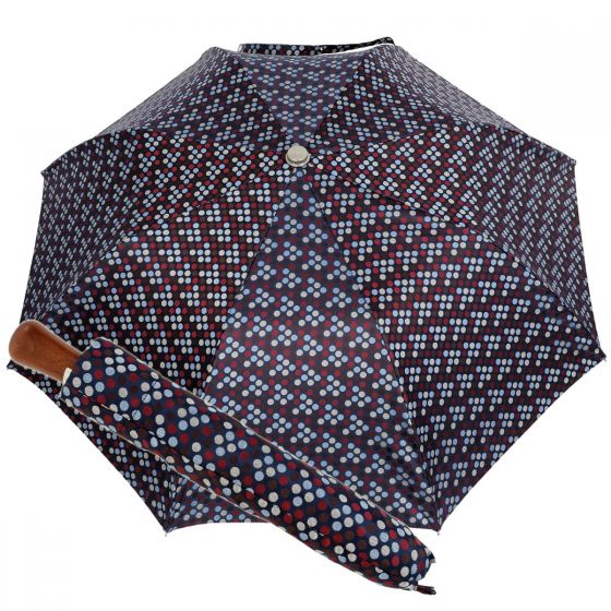 Oertel Handmade pocket umbrella maple - Multi Dots blue