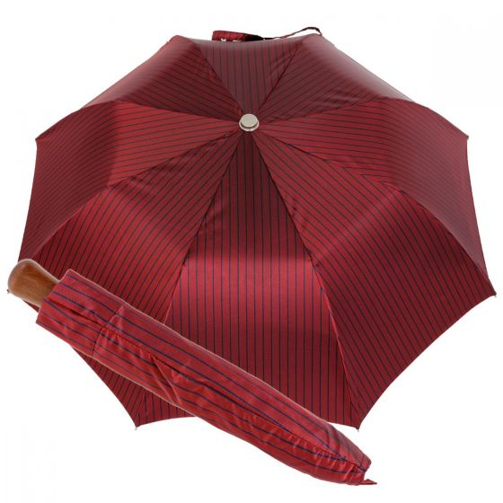 Oertel Handmade pocket umbrella maple - Stripes red-navy