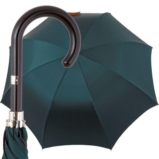 Oertel Handmade Ladies - double uni - petrol-cognac | European Umbrellas
