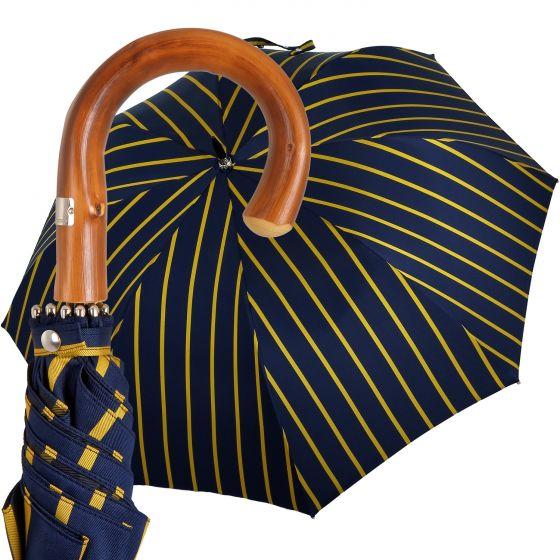 Oertel Handmade - Sport Stripes - blue-yellow | European Umbrellas