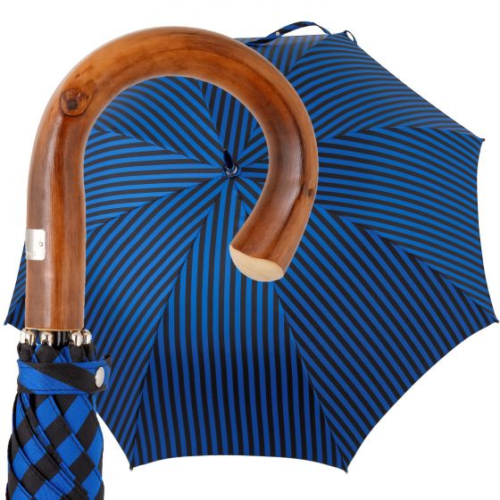 Oertel Handmade - Sport Stripes - black-blue | European Umbrellas