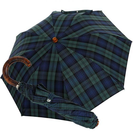 Oertel Handmade pocket umbrella Tartan cotton blackwatch | European Umbrellas