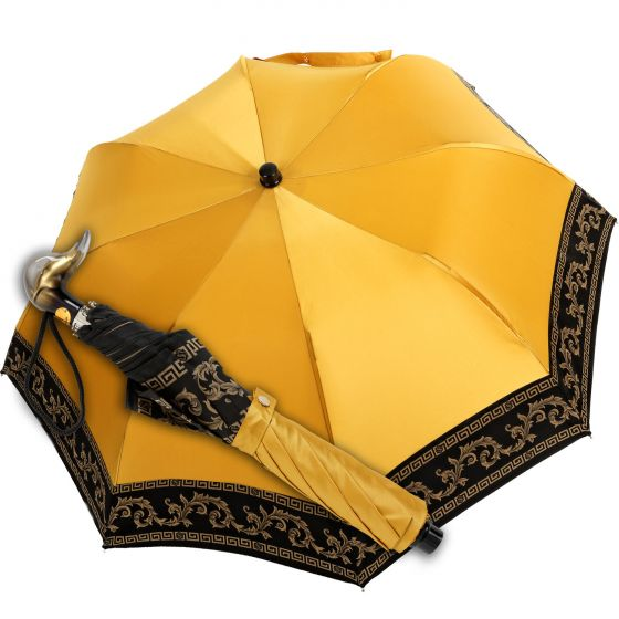 Marchesato - Pocket umbrella - baroque yellow | European Umbrellas