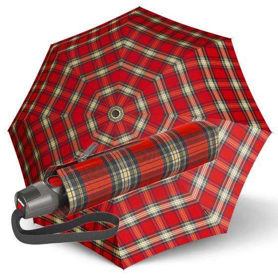 Knirps - T.200 Duomatic - Tartan - red | European Umbrellas