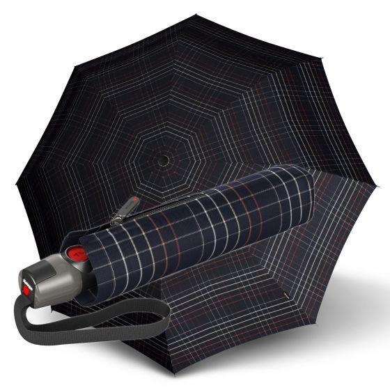 Knirps - T.200 Duomatic - Tartan - black | European Umbrellas